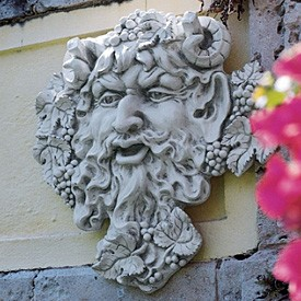 Wall Sculpture of Bacchus the God of Wine