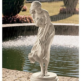Classic Garden Statue: the Windblown Maiden